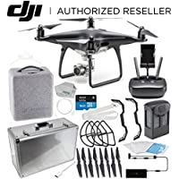 DJI Phantom 4 PRO Obsidian Edition Drone Quadcopter (Black) Starters Aluminum Carrying Case Bundle