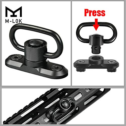 CRUSHUNT M-LOK Sling Swivel Mount M-LOK Sling Attachment Adapter
