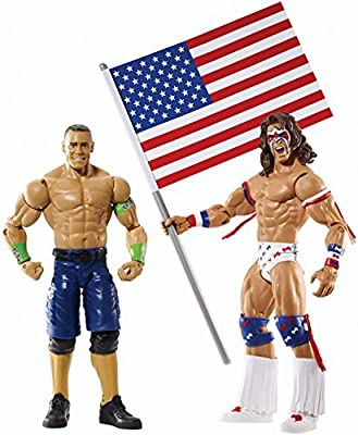 WWE Battle Pack Series #31 - John Cena vs. Ultimate Warrior with USA Flag Figure Two-Pack | Popular Toys