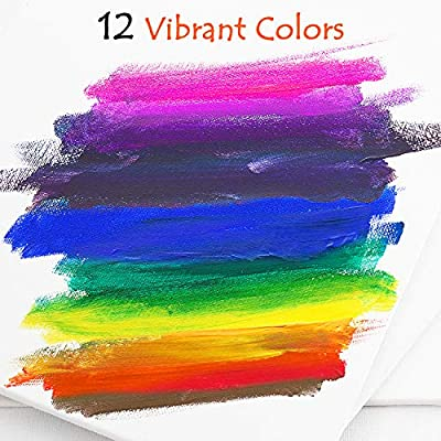 glokers 12 Colors Washable Paint Set for Kids - Mix of Regular and Fluorescent Colors - 2-Ounce Bottles of Bold, Vibrant Non-Toxic Kids Paints - Toddler Art Supplies for Finger Painting. Made in USA: Toys & Games