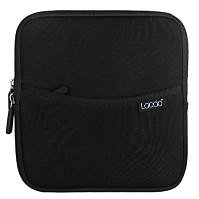 Lacdo Shockproof External USB CD DVD Writer Blu-Ray & External Hard Drive Neoprene Protective Storage Carrying Sleeve Case Pouch Bag With Extra Storage Pocket for Apple MD564ZM/A USB 2.0 SuperDrive / Apple Magic Trackpad / SAMSUNG SE-208GB SE-208DB SE-218