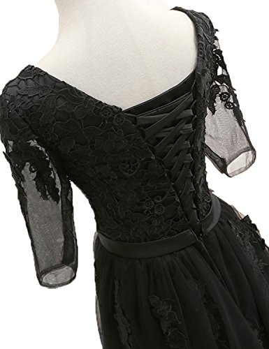 Stillluxury para negro Mujer Noche Vestido qqwAXWrFR