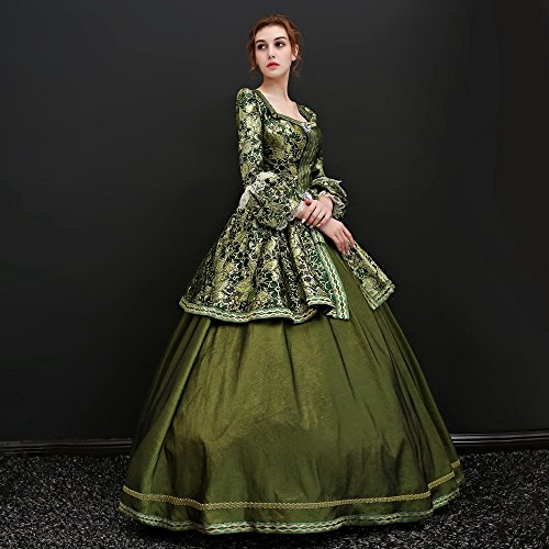 Zukzi Women's Floor Length Victorian Dress Costume Masquerade Ball Gowns, X7932, Customized by Zukzi (Image #4)