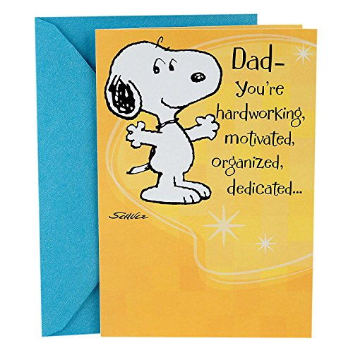 Hallmark Peanuts Father's Day Card for Dad (Snoopy and Charlie Brown)