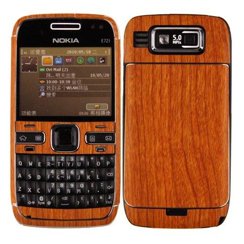(Nokia E72 Screen Protector + Light Wood Full Body, Skinomi TechSkin Light Wood Skin for Nokia E72 with Anti-Bubble Clear Film Screen)