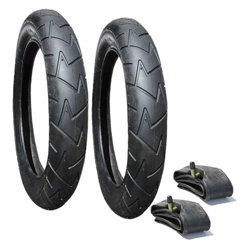 A Set of Tyres and Tubes Suitable for Bugaboo Donkey Rear Wheels Rubena