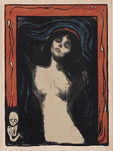 Wall Art Impressions Quality Prints - Laminated 24x31 Poster Edvard Munch - -
