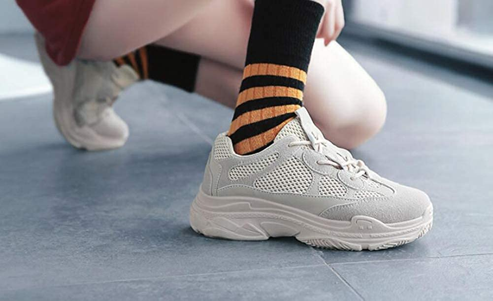 He-yanjing Womens Platform Sneakers 2018 Autumn The Retro Shoes Breathable Sneakers