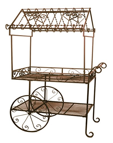 Deer Park Ironworks (TC104) Steel Flower Cart, Large (Decorative Carts Garden)