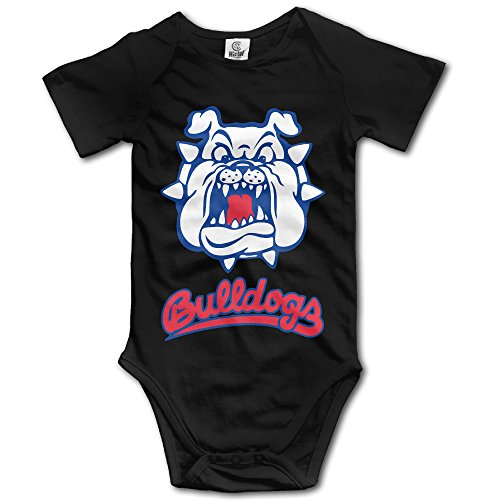 Price comparison product image OOKOO Baby's California State University Fresno Bodysuits Black 6 M