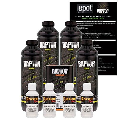 Concrete Texture Coating - U-POL Raptor GM White Urethane Spray-On Truck Bed Liner & Texture Coating, 4 Liters