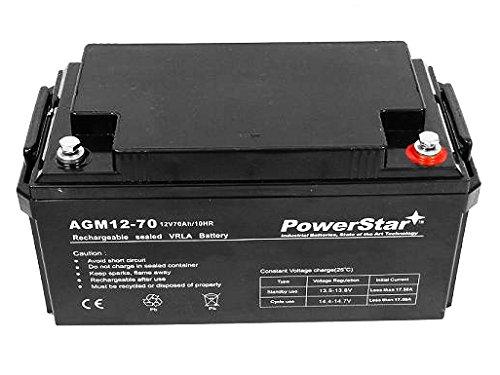 12V 12 Volt 70ah Johnson Controls GC12V75 AGM Replacement PowerStar Battery