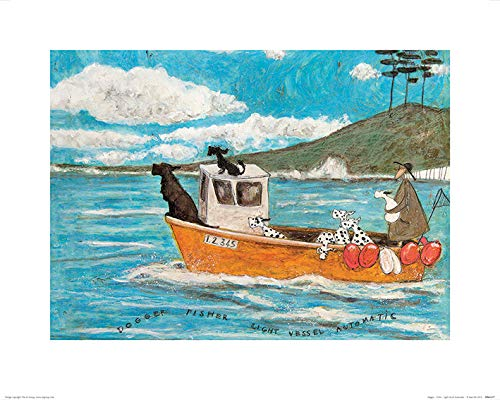 Art Group The Dogger Fisher Light Vessel Automatic Sam Toft Print, Paper, Multi-Colour, 40 x 50 x 1.3 cm The Art Group PPR43377