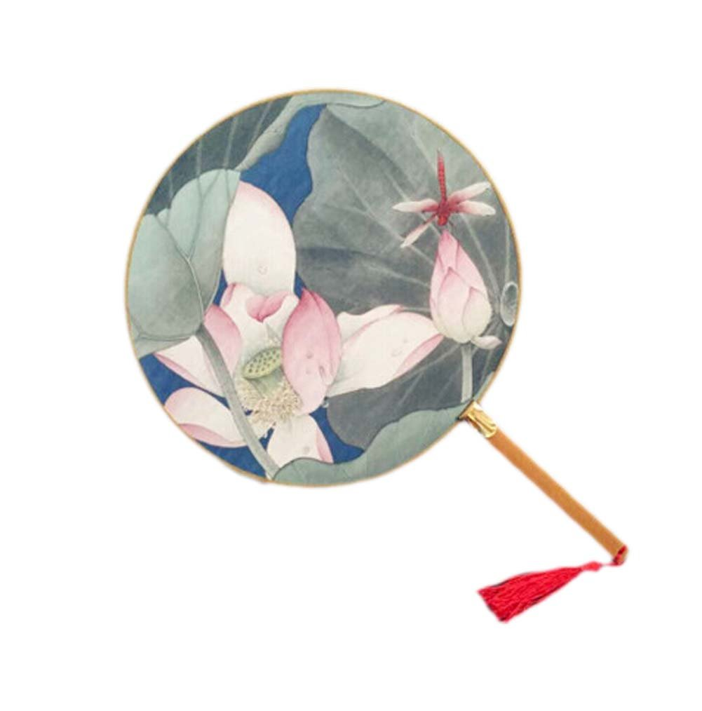 Blancho Elegant Hand Fan Hand Held Fan Chinese Fan Paper Fans Blancho Bedding