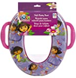 Nickelodeon Dora the Explorer Butterfly Buddies Seat - Padded, Soft and Durable - For Regular and Elongated Toilets - Removable Cushion for Easy Cleaning - Firm Grip Handles