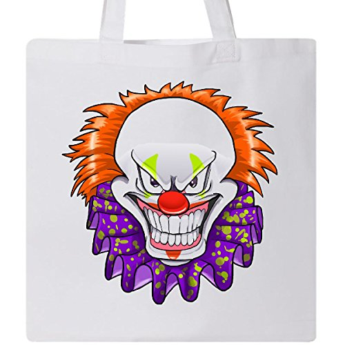 Inktastic - Scary Clown for Halloween Tote Bag White