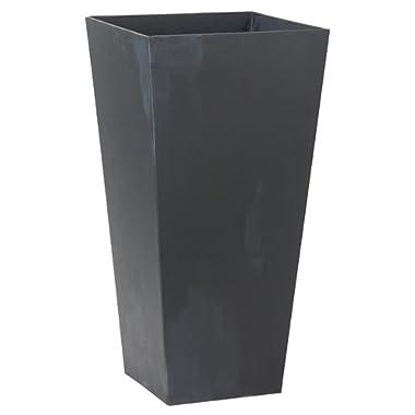 Novelty ArtStone Ella Tall Planter, Black, 19.5-Inch