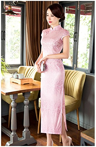 Angcoco Lace Sleeve 0432 Cap Cheongsam Maxi Dress China Women's Qipao PxTwPfS