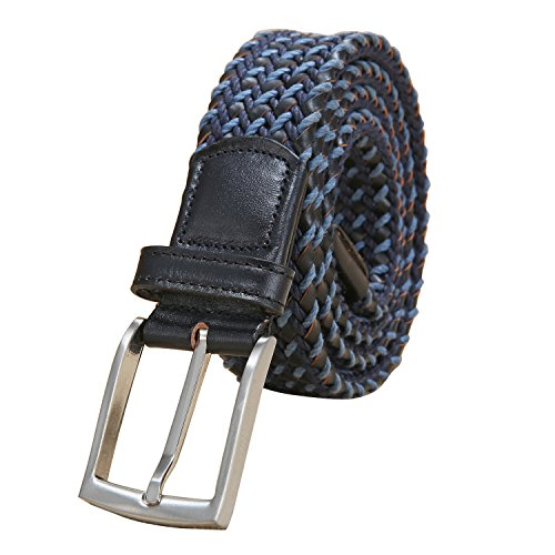 Ground Mind Thick Braided Cotton & Genuine Leather - Belt Genuine Cotton