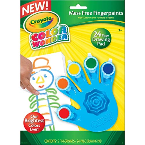 Crayola, Color Wonder Mess Free Fingerpaints and Paper, Art Tools, Great for Travel ()