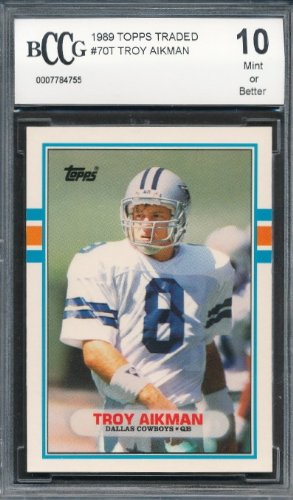 1989 Topps Traded #70T Troy Aikman Rookie Graded BCCG ()