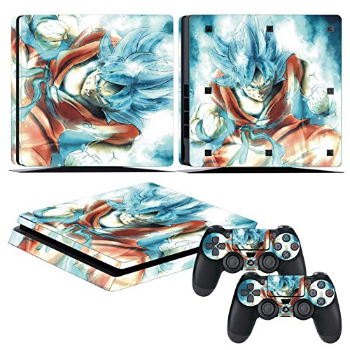 EBTY-Dreams Inc. - Sony Playstation 4 Slim (PS4 Slim) - Dragon Ball Z (DBZ) Anime Son Goku Saiyan Vinyl Skin Sticker Decal Protector (Best Dragon Ball Z Game For Wii)