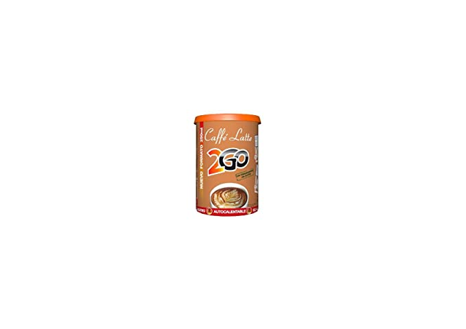 2Go - Café con Leche - Se calienta solo - 200 ml - [Pack de