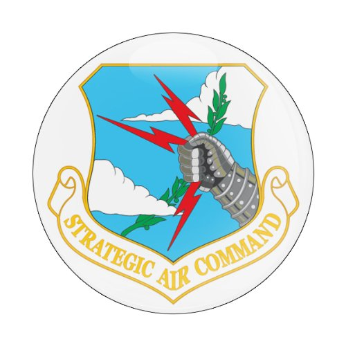 GoBadges Flag Strategic AIR Command 3 Magnetic Grill Badge//UV Stable /& Weather-Proof//Works Grill Badge Holder CD0214
