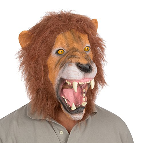 Halloween Party Costume Latex Lion Mask by Capital Costumes