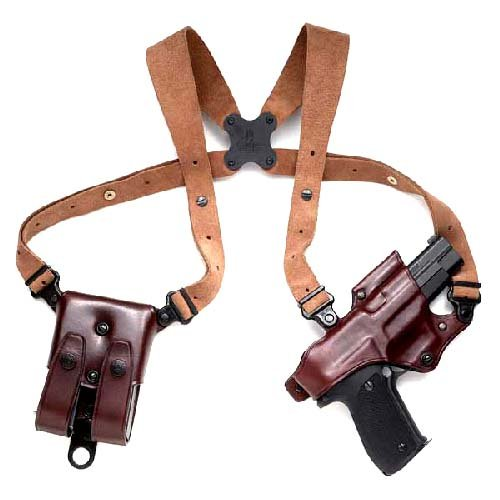 Galco Jackass Rig Shoulder System for Glock 17, 22, 31 (Havana, Right-hand) by Galco Gunleather
