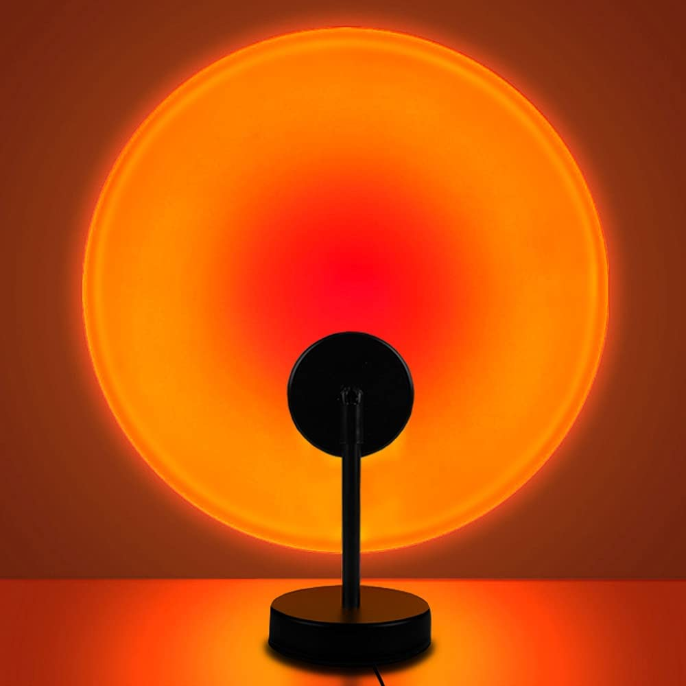 Sunset Lamp, Projector Sunset Light 10W LED Projection Night Light 180 Degree Rotation Romantic Rainbow Light USB Charging for Photography Party Home Living Room Bedroom Decor, Sunset Red