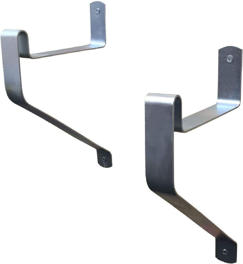 2 x Ladder Storage Hooks, Wall Mounted Brackets for Workshops, Garages & Sheds