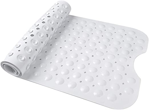 "Bathtub Mat Extra Long Anti Slip Bathroom White with Suction Grip 40X16/"" New USA"