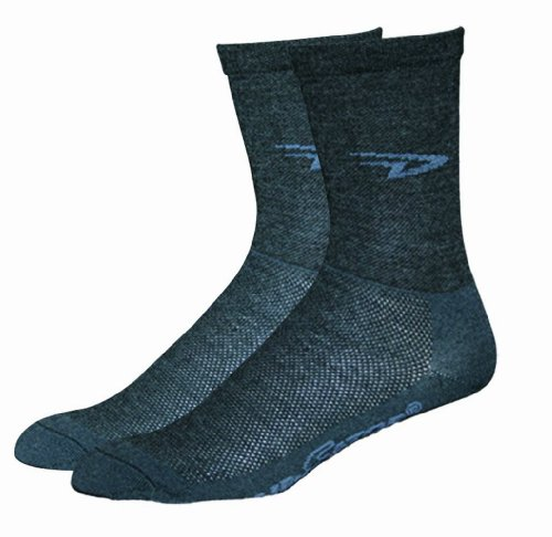 DeFeet Men's Hi-Top Sock, Charcoal, Medium
