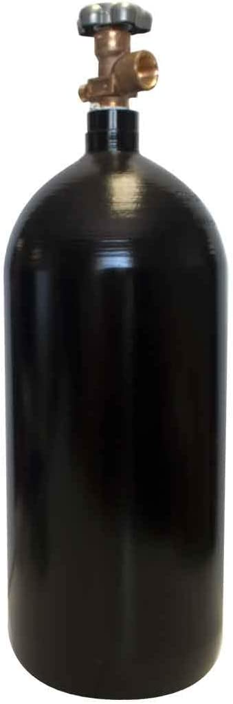 40 cu/ft Argon-Nitrogen-Helium Welding Gas Cylinder Tank CGA 580 -EMPTY