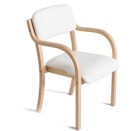 Amazon.com: Silla de comedor de madera para estudio, sillón ...