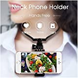 Hands-Free Phone Holder for Streaming - Hanging-On Neck Smartphone Stand for Point of View Photographing or Facebook Live, Selfie Stick Smartphone Holder Easily Picture Video Recording