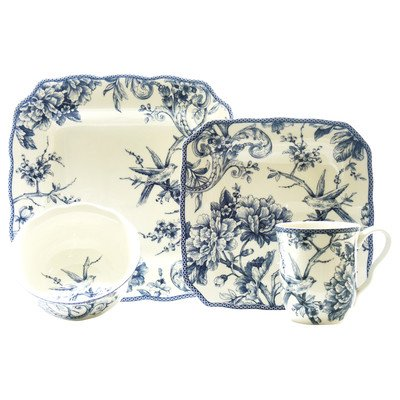 Blue 16 Piece (Adelaide 16 Piece Dinnerware Set in Blue)