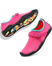 e0becdbfb6 GLOBTOUCH Boy and Girls Athletic Water Shoes Quick-Dry Slip on Aqua Sock  for Beach