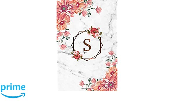 Amazon com: S: Cute Initial Monogram Letter S College Ruled