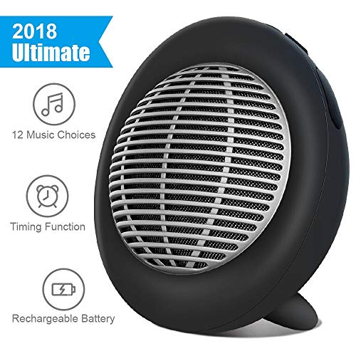 Light Therapy Sound Machine - White Noise Machine, Portable Oval Sleep Sound Machine, Sound Therapy Machine with 3 Timers & 12 Natural Sound Options Including Lullaby, Ideal for Tinnitus Sufferer, Light-Sleeper, Kid, Baby EastPin
