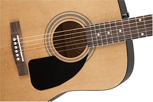 Fender Acoustic Guitar Bundle with Gig Bag, Tuner, Strings, Strap, Picks, Austin Bazaar Instructional DVD, and Polishing Cloth - Image 3
