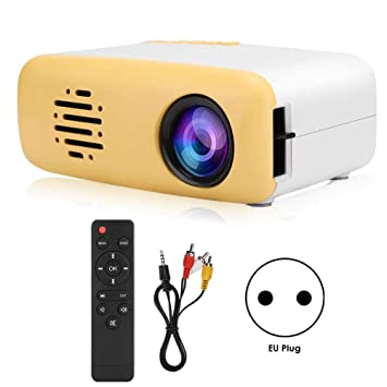 Xinwoer Proyector doméstico Mini Cute LED HD 1080P Proyector ...