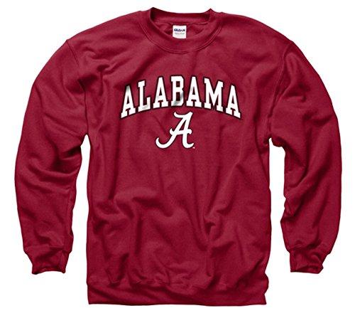Alabama Crimson Tide Adult Arch & Logo Gameday Crewneck Sweatshirt - Crimson, Small