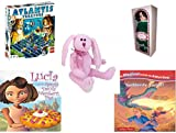 Girl's Gift Bundle - Ages 6-12 [5 Piece] - LEGO Atlantis Treasure Game - Springtime Victorian Ladies By Elsie Massey - Ty Attic Treasures Strawbunny The Bunny Rabbit - Lucia and the Razzly Dazzly We offers