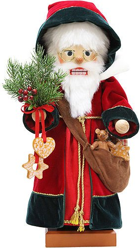 German Christmas Nutcracker Saint Nikolaus, limited - 50,5cm / 19.8inch - Christian Ulbricht by Authentic German Erzgebirge Handcraft
