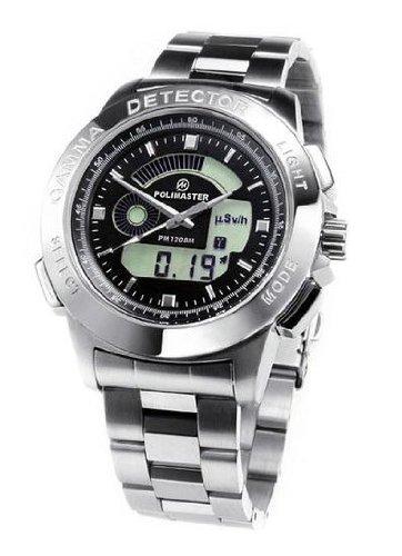 ガイガーカウンター腕時計 (ステンレス製ベルト) POLIMASTER PM1208M 放射線測定器 B004YD2F0W