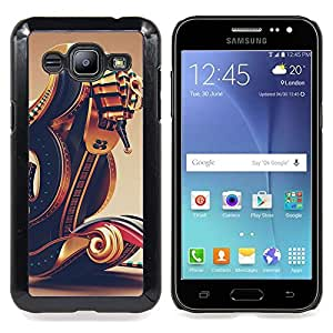 - Pharaoh Boat Abstract Gold Bling - - Snap-On Rugged Hard Cover Case Funny HouseFOR Samsung Galaxy J2
