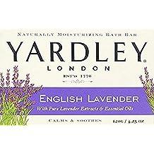 Yardley London Naturally Moisturizing Bar Soap, English Lavender 4.25 oz by Yardley (Pack of 4)