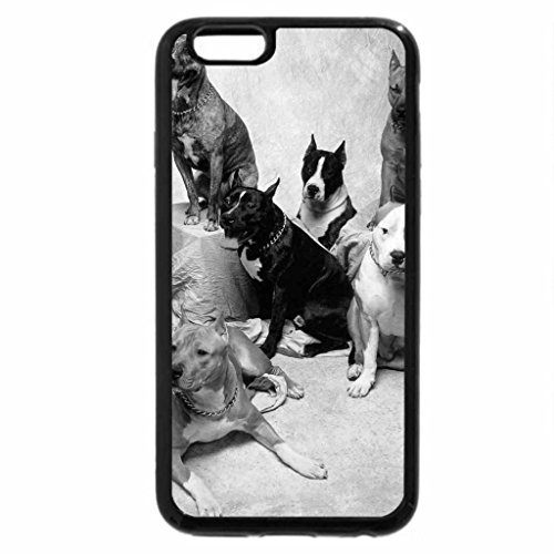iPhone 6S Plus Case, iPhone 6 Plus Case (Black & White) - Best Bully Dog Breeds